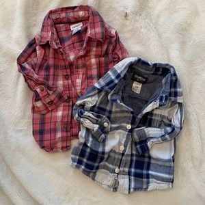 Two plaid button downs